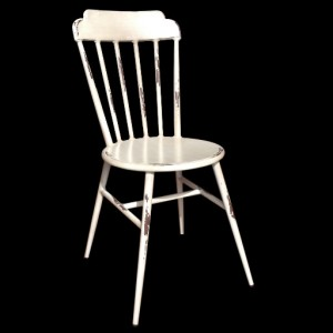 .Colonial Aluminium Dining Chair - Vintage White Colour