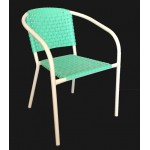 ".Ivy Stackable Arm Chair ""Green"""