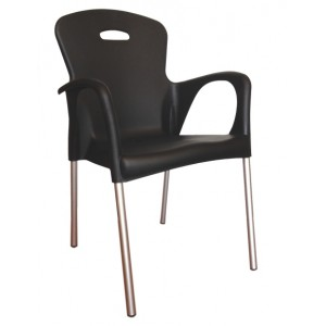 ".Cabana Stackable Arm Chair ""Black"""