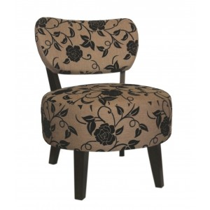 Miami Chair - Fabric Light Brown Floral