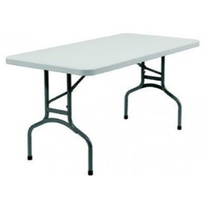 Blow Moulded Trestle Table 1800x760 mm with Folding Legs