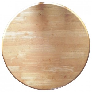 700mm, Timber Rubberwood Table Top, Bullnose, Round, Natural