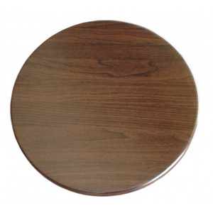 600mm, Heatproof Table Top, Round, Walnut