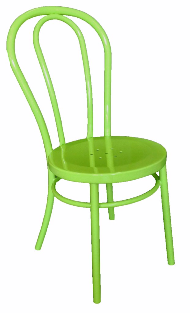 Bistro Bentwood Style Galvanised Chair Green