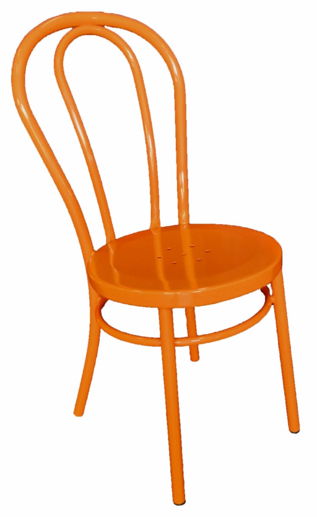 Bistro Bentwood Style Galvanised Chair Orange
