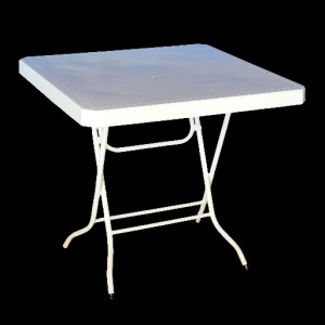 Plastic Table 900mm with Folding Legs, Square