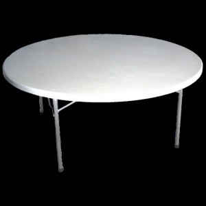 Blow Moulded Banquet Table 1800 mm Round w/Folding Legs