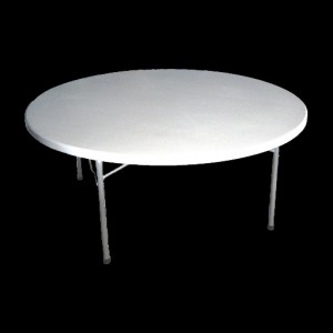 Blow Moulded Banquet Table 1200 mm Round w/Folding Legs
