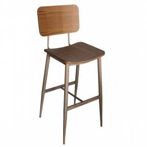 Astor Timber Veneer Bar Stool