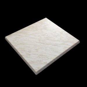 600mm, Heatproof Table Top, Square, Marble Light