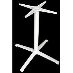 Saturn 4 Way Aluminium Table Base - White
