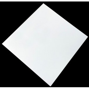 600mm, Compact Laminate, Square, White