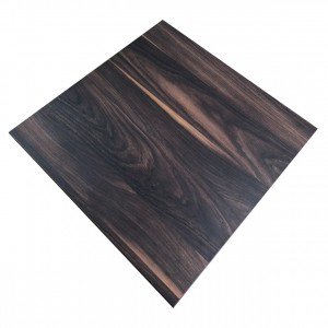 800mm, Melamine, Square, Chestnut
