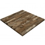 700mm, Gentas Heatproof Table Top, Square, Rustic Blockwood