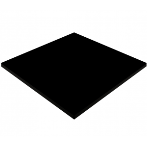 600mm, Gentas Heatproof Table Top, Square, Black