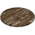 600mm, Gentas Heatproof Table Top, Round, Rustic Blockwood