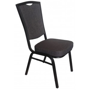 Banquet Chair, Charcoal Grey with Black Aluminium Frame