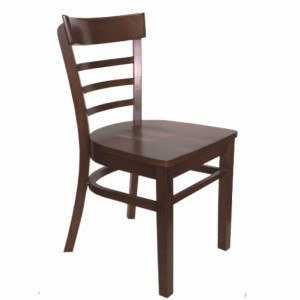 . York Timber Restaurant Chair - Wooden seat