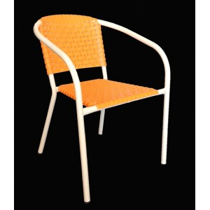 ".Ivy Stackable Arm Chair ""Orange"""