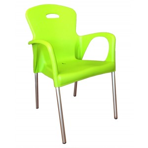 ".Cabana Stackable Arm Chair ""Green"""