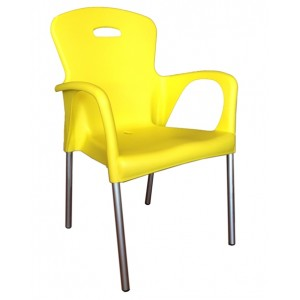 ".Cabana Stackable Arm Chair ""Yellow"""