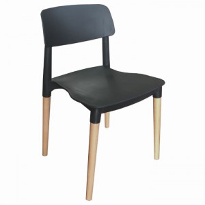 Florence Stackable Side Chair, Black