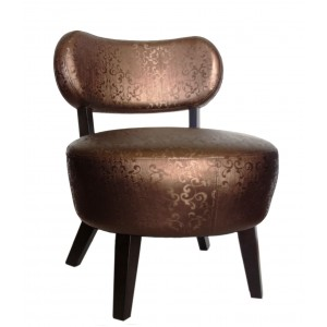 Miami Chair - PVC Brown Pattern