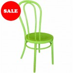 "Bistro Bentwood Style Galvanised Chair ""Green"""