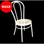 "Bistro Bentwood Style Galvanised Chair ""White"""