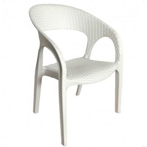Kids Bali Arm Chair-White