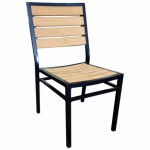 Syn Teak Side Chair With Black Frame