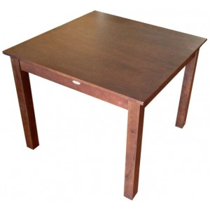 Jaron Rubberwood Table 900mm Square - Wenge