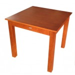 Jaron Rubberwood Table 800mm Square - Domini