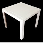 Nusa Rattan PlasticTable 800mm Square - White