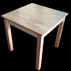 Jaron Rubberwood Table 800mm Square - Natural