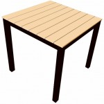 Syn Teak Table 800 Square -Yellow