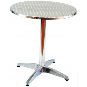 Stainless Steel Moulded Table 700mm, Round