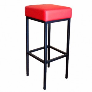 General Purpose Bar Stool Red Seat Black Frame 75cm