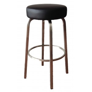 Tapas 760mm Bar Stool Stainless Steel Frame-Black
