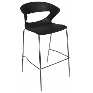 "Taurus Stackable Bar Stool ""Black"""
