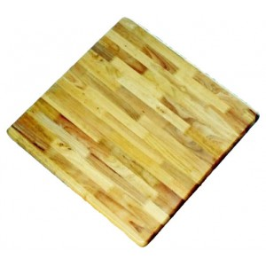 700mm, Timber Rubberwood Table Top, Bullnose, Square, Natural