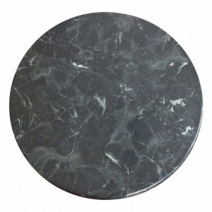 700mm, Heatproof Table Top, Round, Black Marble Light