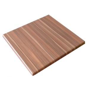 700mm, Heatproof Table Top, Square. Teak