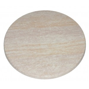 600mm, Heatproof Table Top, Round, Travertine