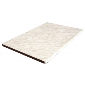 600x900mm, Heatproof Table Top, Rectangular, Marble Light