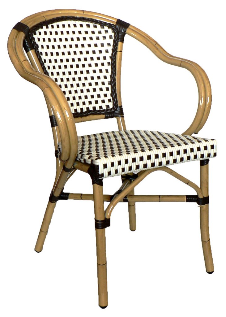 Rattan Wicker Armchair (Chocolate-Chocolate)