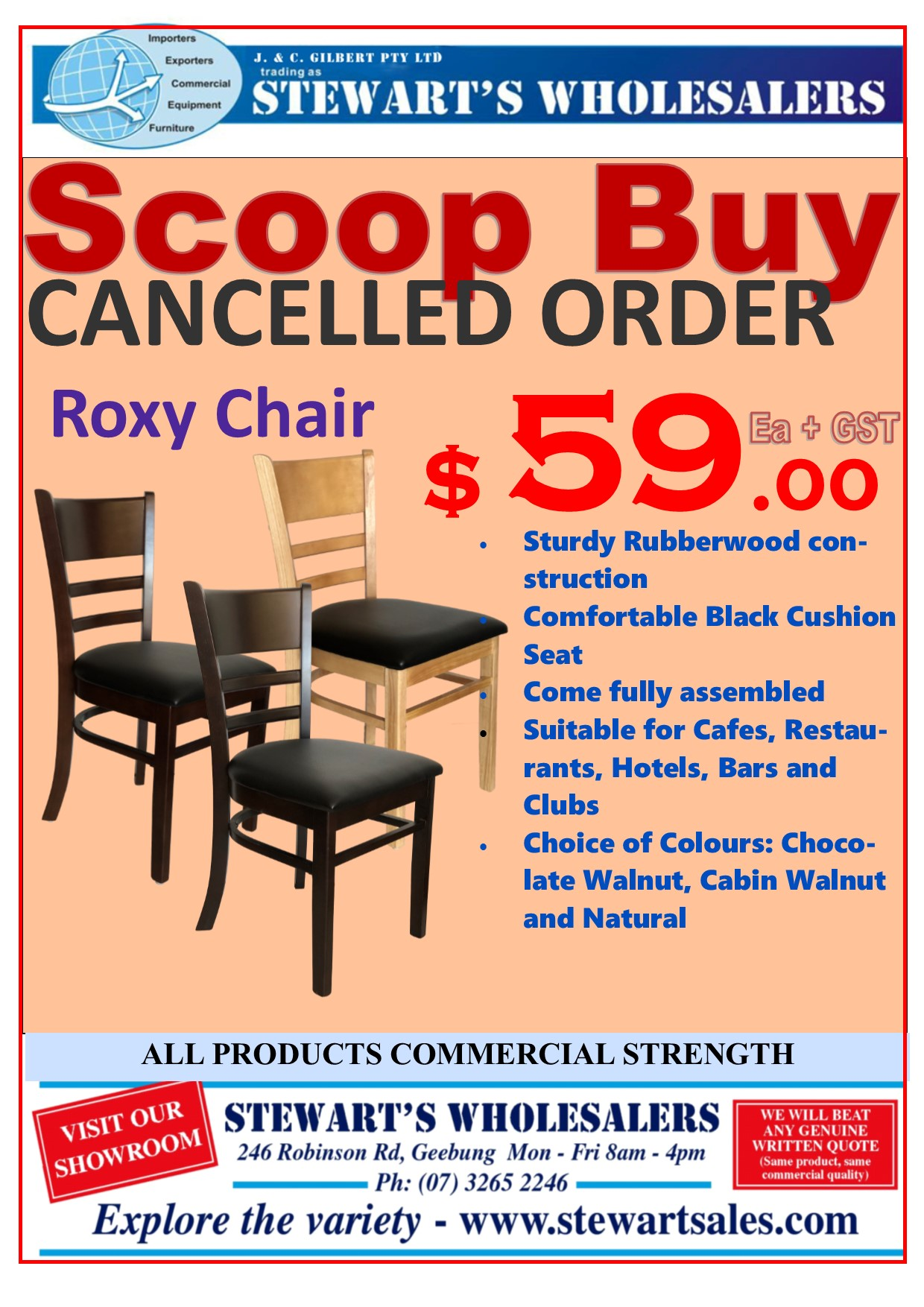 Roxy Chair Cancelled Order