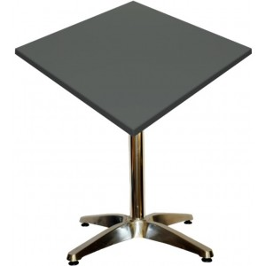 600mm Square Gentas Anthracite Heat Proof Table Top on Standard Aluminium Base