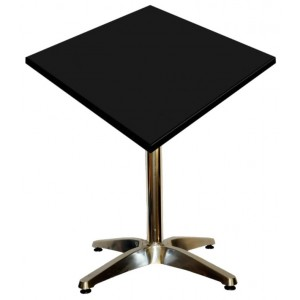 600mm Square Black Heat Proof Table Top on Standard Aluminium Base