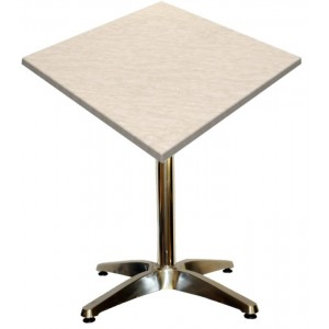 600mm Square Marble Heat Proof Table Top on Standard Aluminium Base